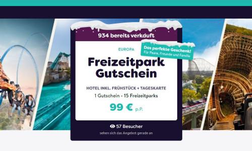 Freizeitpark Reise Gutschein
