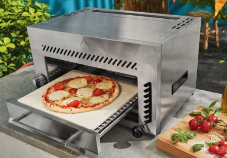 Gasgrill HTG 800 A1 Oberhitze bis 800 C  inklusive Pizzastein aus Edelstahl