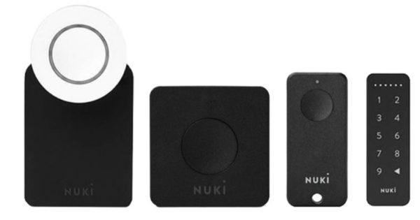 Nuki Komplett Set   Smart Lock 2.0  Bridge  Fob  gratis Keypad
