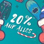 Planet-Sports 🏂 20% Gutschein auf Alles, z.B. Quiksilver, Nike usw.