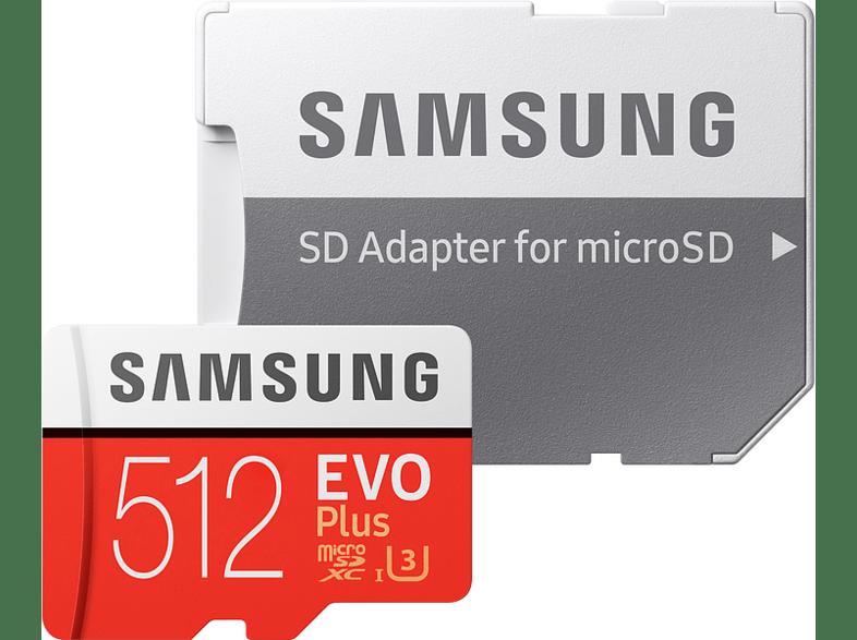SAMSUNG EVO Plus 512 GB Micro SDXC Speicherkarte 100 Mbit s