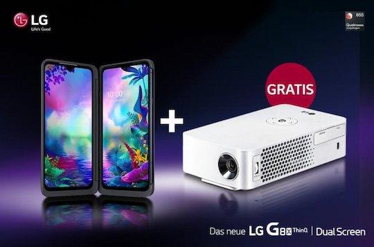 lg g8x thinq beamer gratis aktion deal 1f