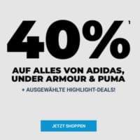 40% Rabatt auf Adidas, Puma & Under Armour