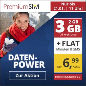 P/L-Tipp 💥 Drillisch o2 Allnet-Flat + 3GB LTE für 6,99€ (mtl. kündbar)