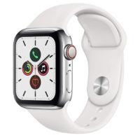 Apple Watch Series 5 GPS  Cellular 40 mm Acero Inoxidable   Correa Deportiva Blanco Amazon.es 2020 02 19 20 43