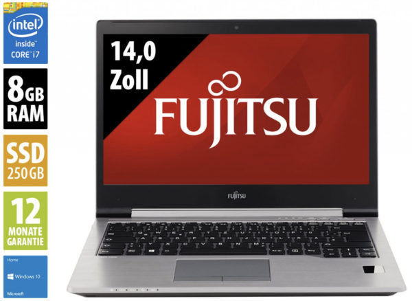Fujitsu LifeBook U745   140 Zoll   Core i7 5600U  26 GHz   8GB RAM   250GB SSD   WSXGA 1600x900   Webcam   Win10Home  AfB 2020 01 07 10 55