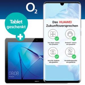 o2 Free M Boost mit 20GB LTE + Huawei P30 Pro + MediaPad T3 + 140€ Gutschein