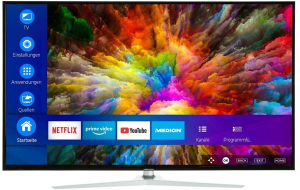 MEDION X14343 Fernseher UHD Smart TV HDR10 Dolby Vision A