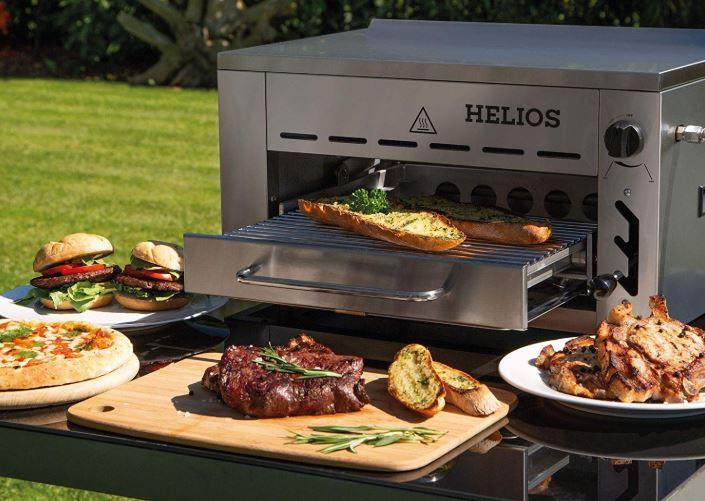 Meateor Helios 800 Grad Oberhitzegrill Aus Edelstahl Inkl. Grillrost Und Gastroschale
