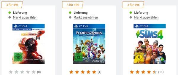 Saturn 3 Games für 49 Euro