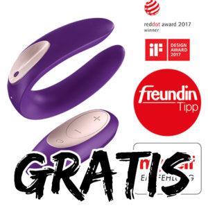 GRATIS 💕 Satisfyer Paarvibrator (ab 30€ MBW) + bis zu 90% im Sale