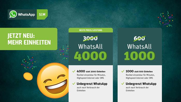 whatsapp sim aktion 4000 einheiten