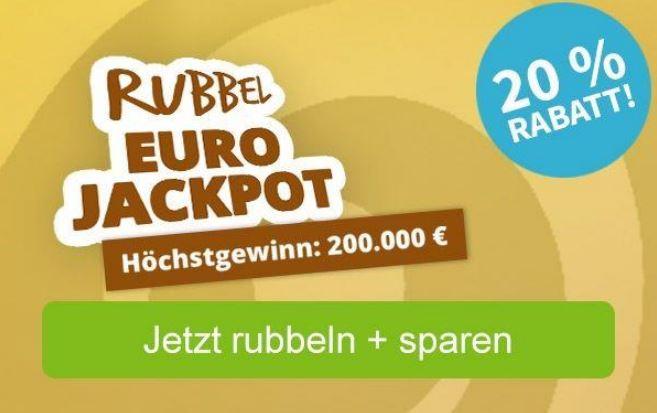20 Pr Rabatt auf 5 Rubellose  Bis zu 200.000 Gewinn auch fuer BK