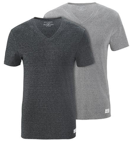 2 T Shirts mit V Ausschnitt