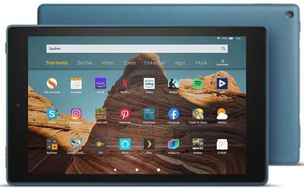 Amazon Fire HD 10 Tablet   Dunkelblau mit Spezialangeboten Full HD Display 1080