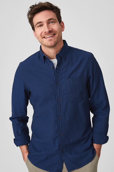 Angelo Litrico Hemd   Slim Fit   Button down