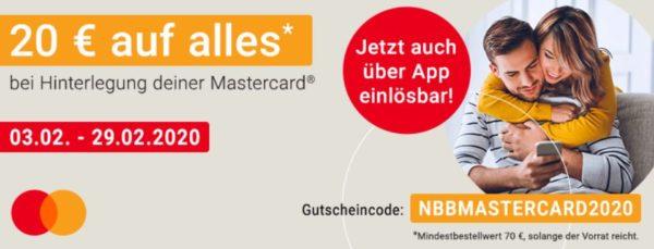 Dank Mastercard bei NBB Amazon Artikel guenstig