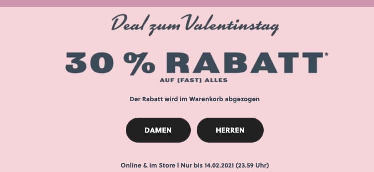 Fossil 30 Prozent Valentins Rabatt