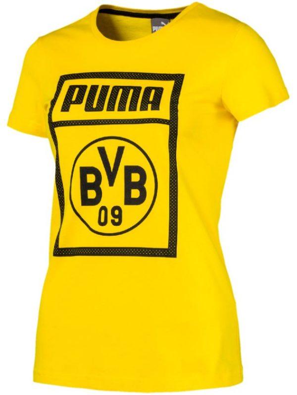 Puma BVB Borussia Dortmund   Damen Tee Fanshirt Freizeitshirt