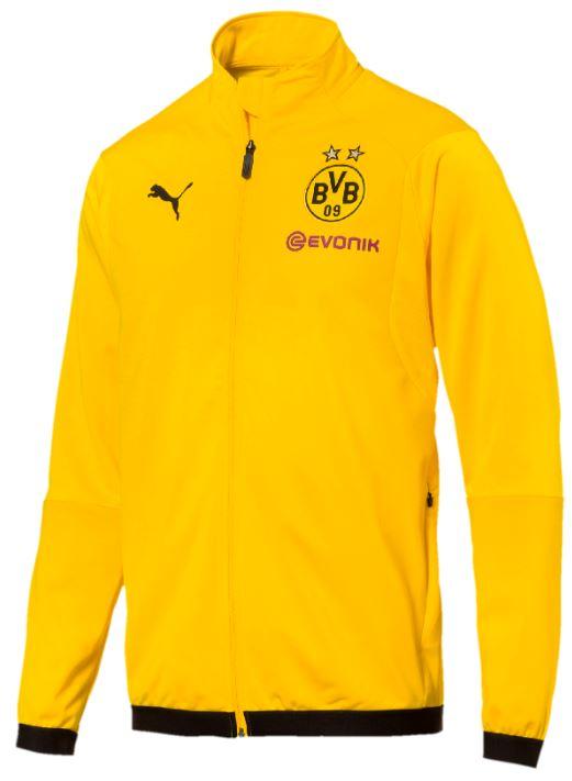 Puma BVB Borussia Dortmund Herren Jacke Trainingsjacke Polyesterjacke