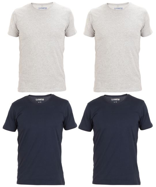 Riverso 4er Pack Herren Basic T Shirt