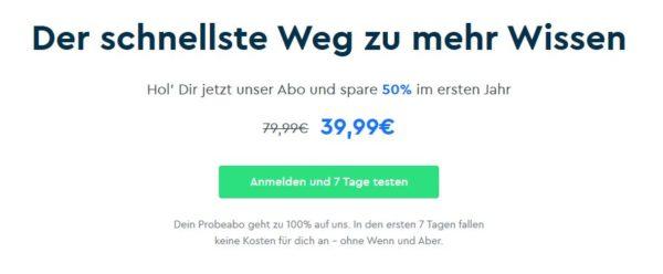 Spare 50 auf Blinkist Premium