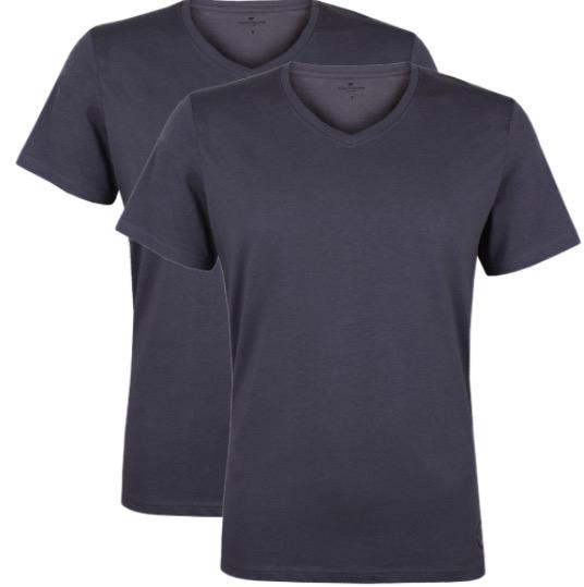 Tom Tailor Herren V  Neck T Shirt   2er Pack