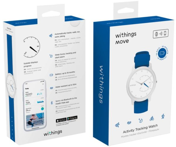 Withings Move White  Blue   Smartwatch   Wearables   Smartphone Navi   Zubehoer