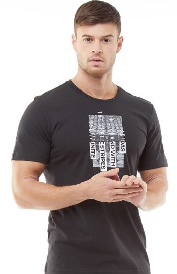 adidas Herren Grafik T Shirt Schwarz