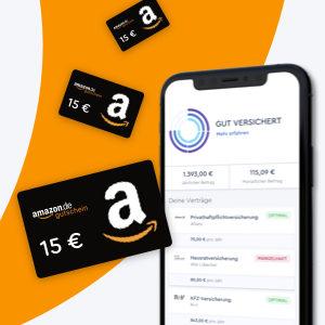[Knaller] 💥 Unbegrenzt 15€ Amazon.de-Gutscheine* mit der CLARK Versicherungs-App