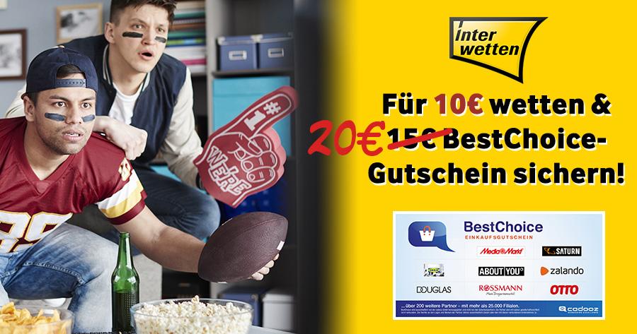 interwetten bonus 20 euro gutschein gratis superbowl