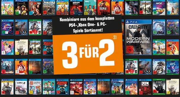 3-für-2 mit Games für PS4, Xbox & Switch 👾 z.B. RE 3, Far Cry5, usw.