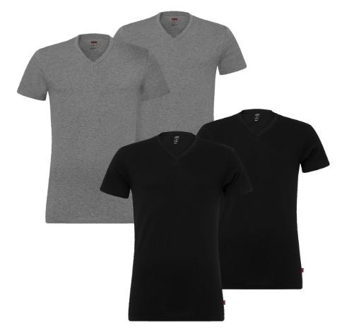 4x Levis Basic T Shirts V Neck 1
