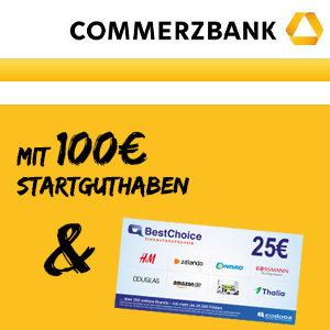 [TOP] 100€ Guthaben + 25€ Gutschein 🤑 für das Commerzbank Girokonto