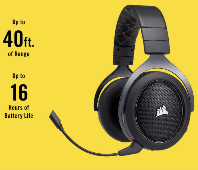 Corsair HS70 Wireless Gaming Headset with 7.1 Surround Sound   CarbonCA 9011175 EU Amazon.co .uk Computers  Accessories 2020 03 26 14 01