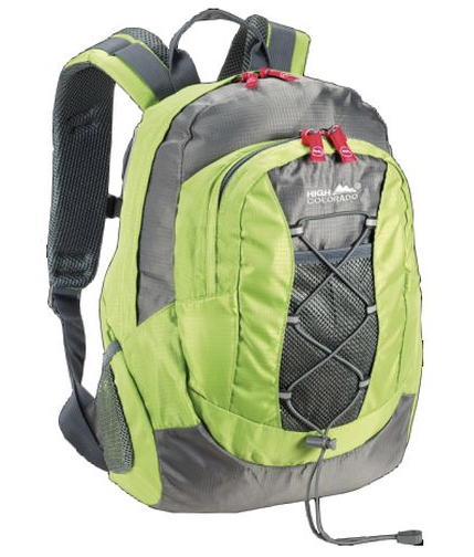 High Colorado Quest 15 Kinderrucksack Daypack   118607 6146 lime dunkelgrau Outdoor Outdoorequipment 2020 03 23 14 58