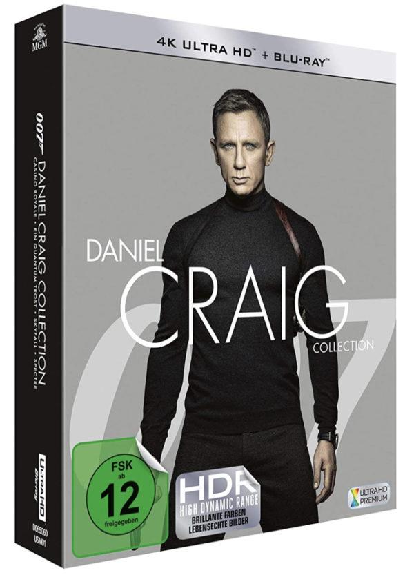 James Bond Daniel Craig Collection 4 UHD  4 Blu ray Amazon.de Craig Daniel Craig Daniel DVD  Blu ray 2020 03 17 11 44