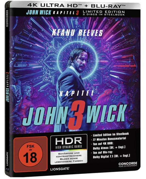 John Wick Kapitel 3   2 Disc Edition   4K UHD und Blu ray im Steelbook Amazon.de Reeves Keanu Berry Halle Fishburne Lau 2020 03 17 11 40