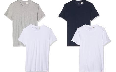 Levis Herren Slim 2pk Crewneck 1 T Shirt 2