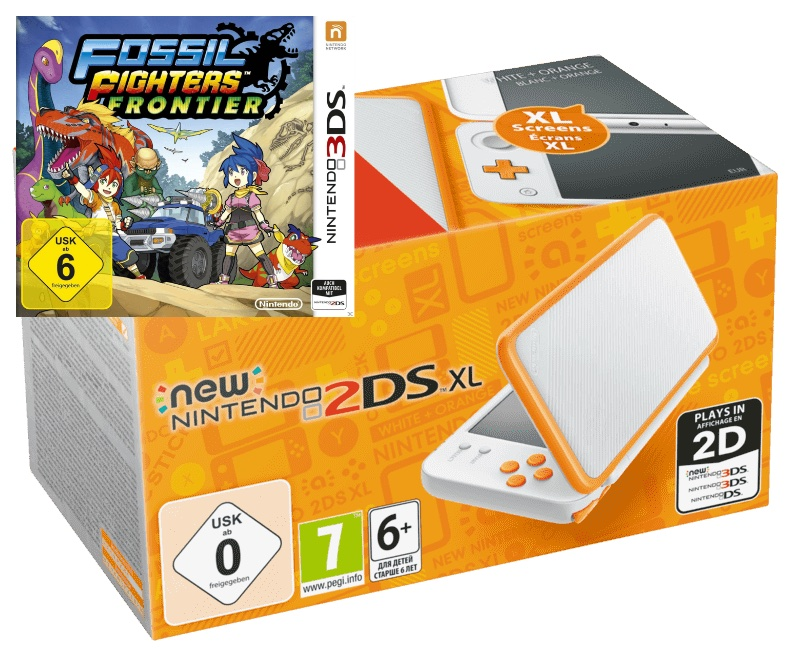 NINTENDO New Nintendo 2DS XL Spielekonsole Weiss Orange