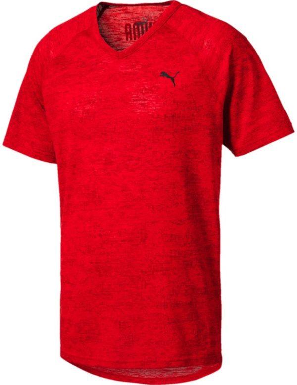 Puma drirelease Tee   Herren kurzarm T Shirt   516347 03 rot