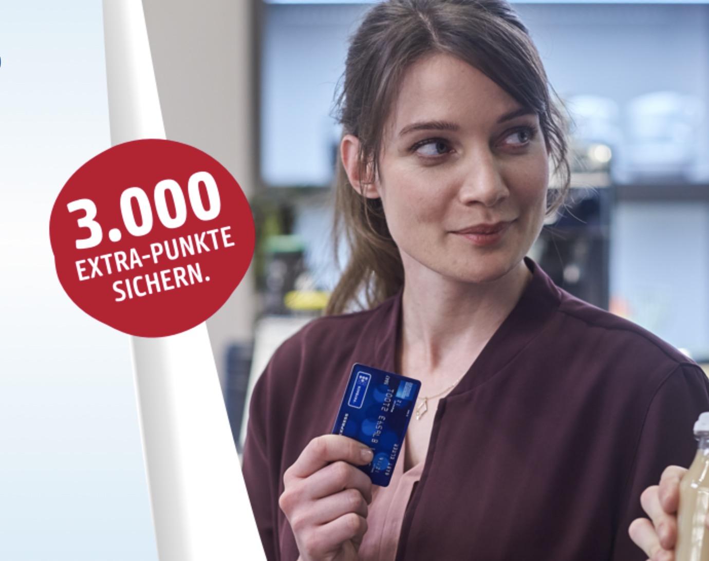 3.000 Punkte (= 30€ Bonus) 🤑 für die kostenlosen Payback American Express