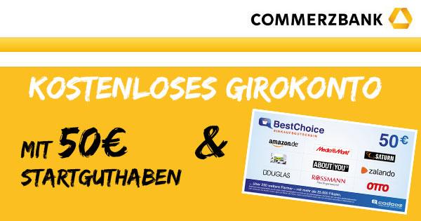 Commerzbank 50€ Startguthaben