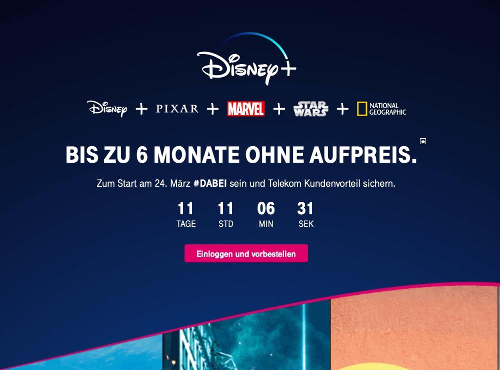 Telekom Disney+ App