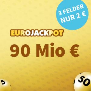 Höchststand! 90 Mio. € 💰🍀 1x EuroJackpot Gratis-Tipp (NK) // 5€ Rabatt für BK