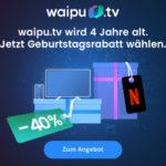 📺🍿 4 Monate waipu.tv Perfect / Perfect Plus + Netflix mit 40% Rabatt