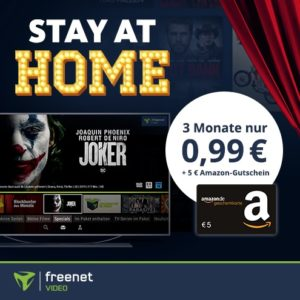 [Knaller] JOKER (2019) für 0,99€ leihen 🤡 + 3 Monate freenet video + 5€ Amazon-GS 🍿