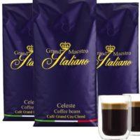 3kg Grand Maestro Kaffee  gratis Glaeser