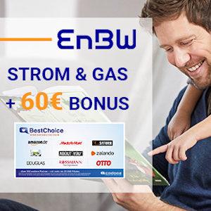Günstiger als Check24 ⚡💲 Strom + Gas bei EnBW + 60€ BestChoice-Gutschein