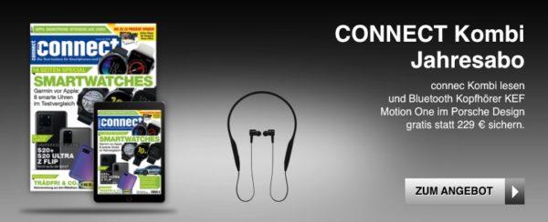 Kombi Jahresabo 22Connect22  KEF Motion One In Ear Kopfhoerer